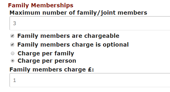 Crossmember setup family members