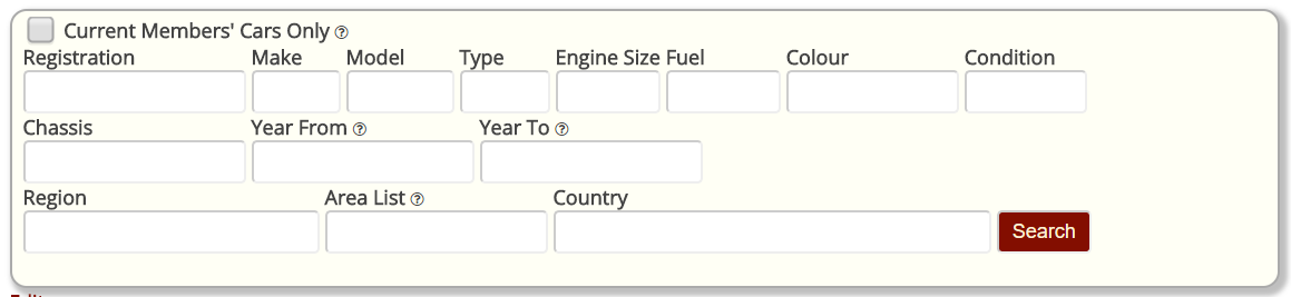 Vehicle Reports Fields