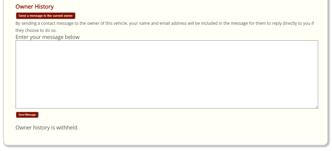 Vehicle Register Send Email